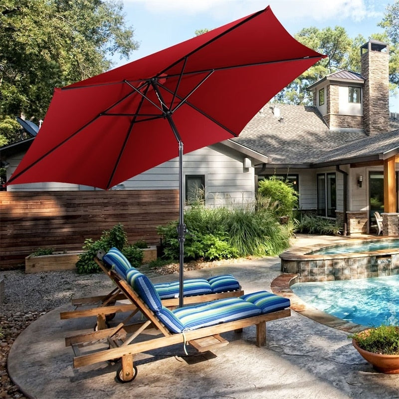 Outdoor Patio Umbrella Cantilever Standing Picnic Table Umbrella Shade, 10ft6in - Morealis