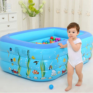 Premium Kids Inflatable Pool Small Blow Up Kiddie Pool for Baby - Morealis