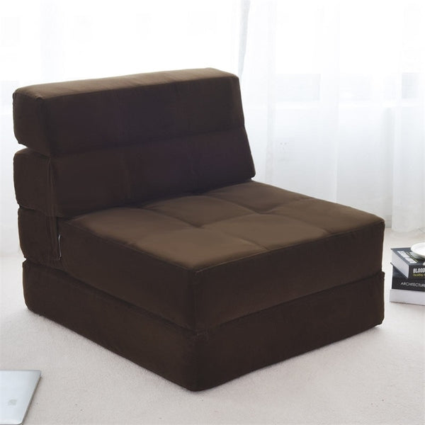 Tri-Fold Convertible Bed Chair Sleeper Sofa Fold Out Bed For Small Bedrooms - Morealis