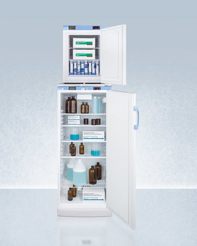 """Accucold 24"""" Wide All-Refrigerator/All-Freezer Combination with Front Locks"""