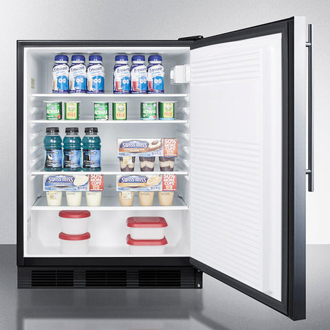 """Accucold 24"""" Wide All-Refrigerator with Thin Handle ADA Compliant"""