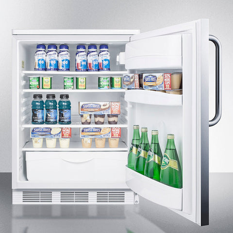 """Accucold 24"""" Wide All-Refrigerator with Towel Bar Handle"""