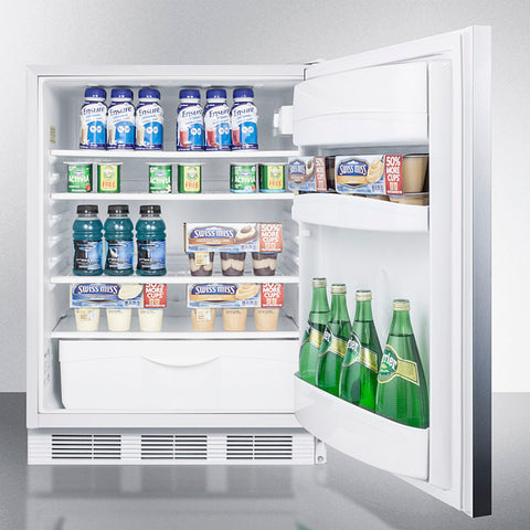 """Accucold 24"""" Wide Built-In All-Refrigerator ADA Compliant with Horizontal Handle"""