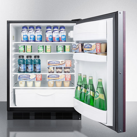 """Accucold 24"""" Wide Built-In All-Refrigerator ADA Compliant with Integrated Door Frame"""