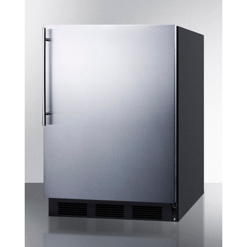 """Accucold 24"""" Wide Built-In All-Refrigerator Auto Defrost with Stainless Steel Door"""