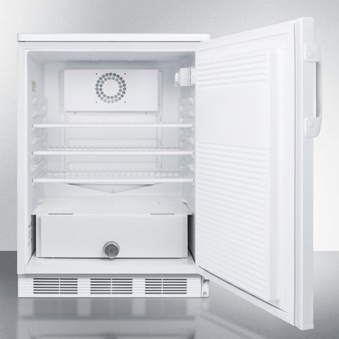 """Accucold 24"""" Wide Built-In All-Refrigerator in White"""
