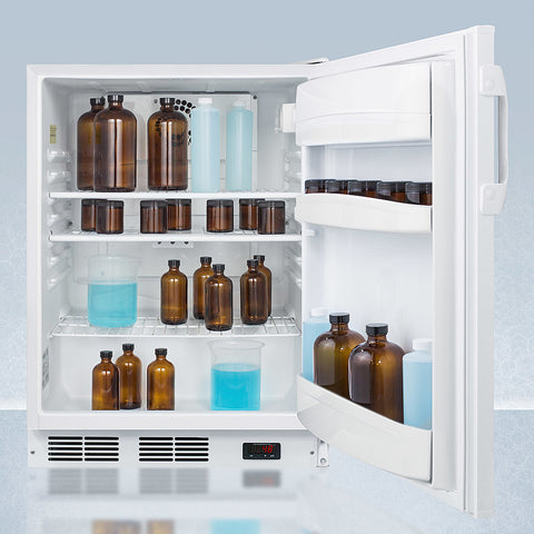"""Accucold 24"""" Wide Built-In All-Refrigerator with Auto Defrost ADA Compliant"""