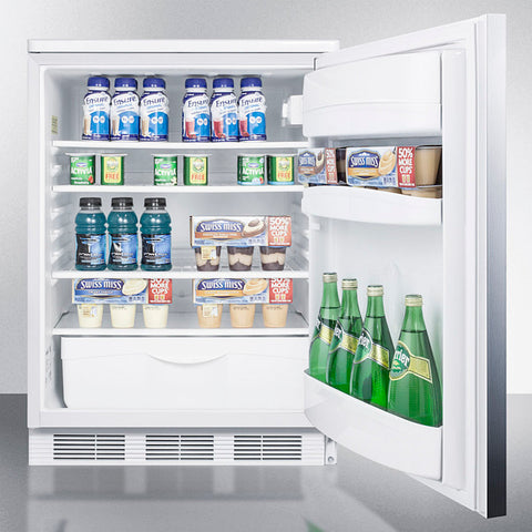 """Accucold 24"""" Wide Built-In All-Refrigerator with Horizontal Handle"""