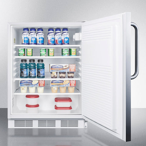 """Accucold 24"""" Wide Built-In All-Refrigerator with Towel Bar Handle ADA Compliant"""