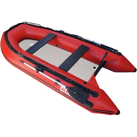 Aleko Inflatable Boat with Air Deck Floor 10.5 Ft Red