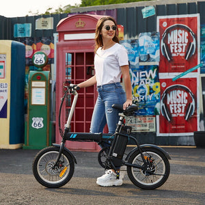 "Almighty Folding Electric Bike Commuter Bicycle City Ebike 16"" - Morealis"