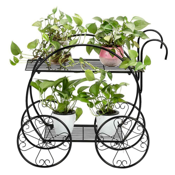Amoire Metal Stand Plant Flower Storage Shelf Rack - Morealis