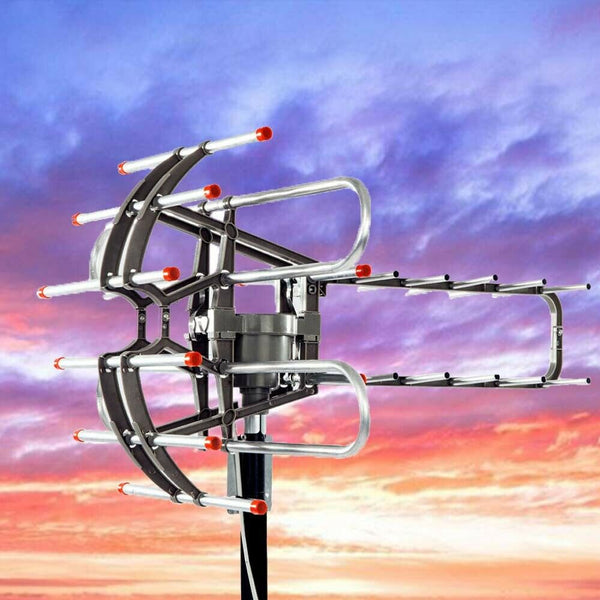 Amplified TV Antenna Booster Outdoor Long Range Television Antenna - Morealis