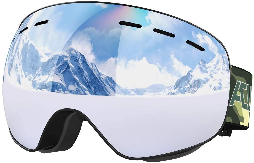 Anti Fog Ski Goggles Snow Proof Frameless Dual Lens