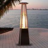 Balmy Outdoor Propane Patio Heater Restaurant Gas Fire Pit Pyramid Heat Lamp - Morealis