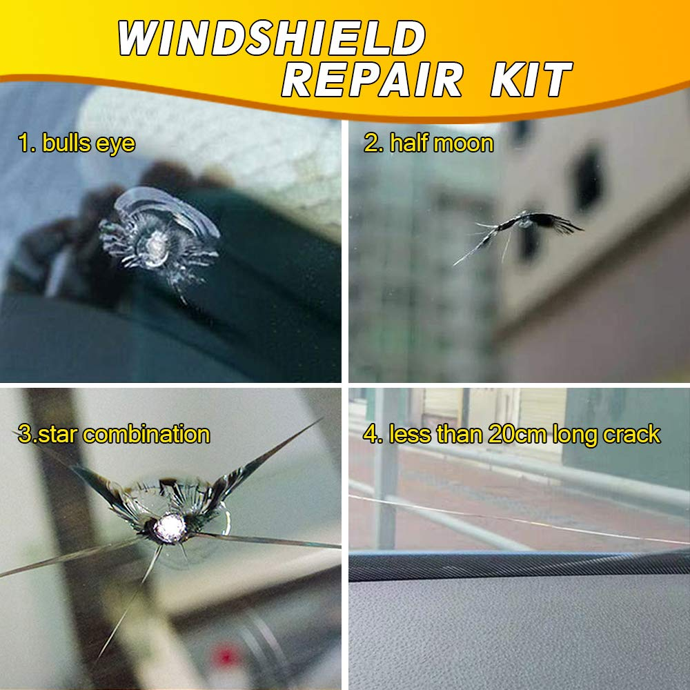 Windshield Repair Kit Cracked Glass Windshield Chip Repair Kit - Morealis