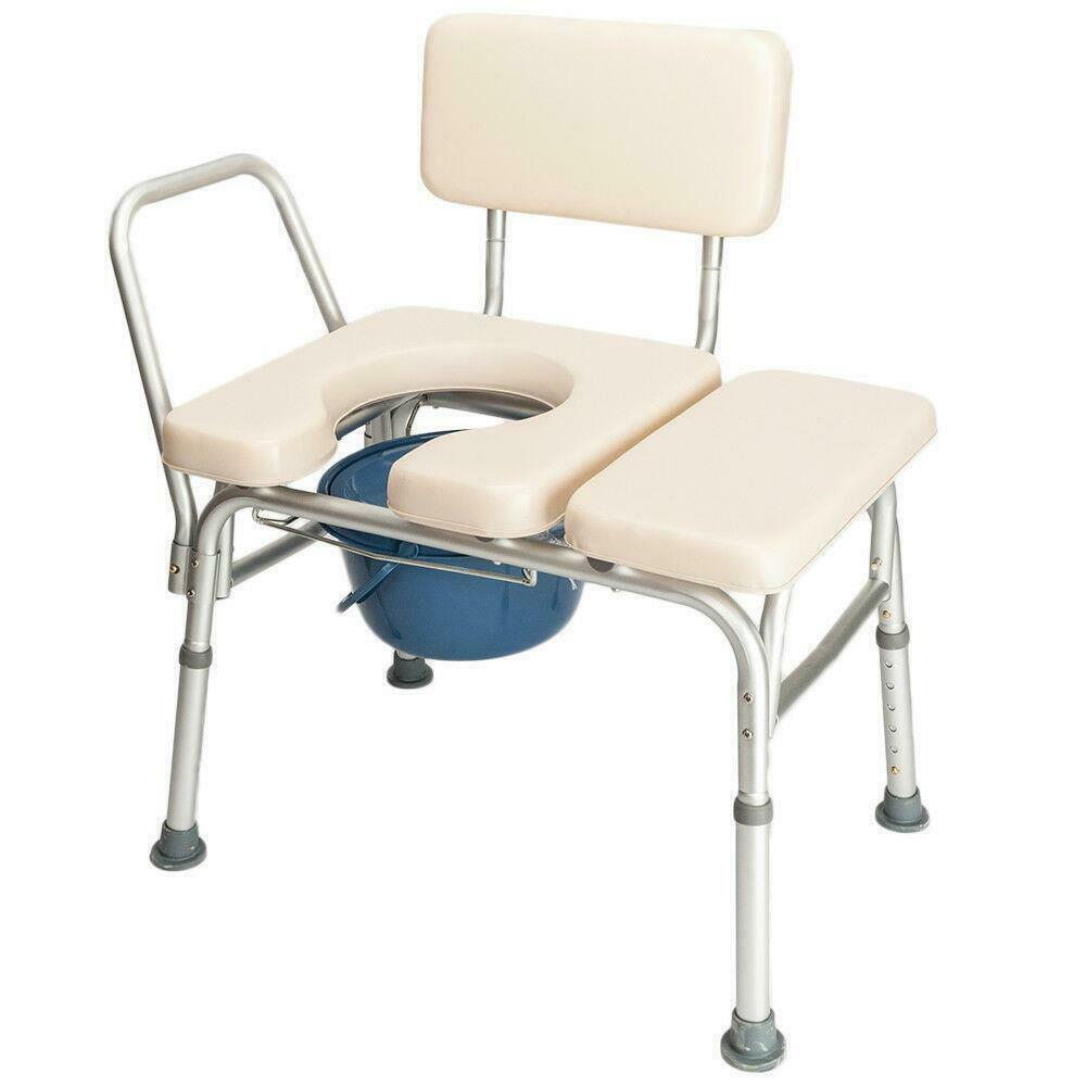 Convenient Bedside Commode Adult Rolling Shower Chair with Wheels - Morealis