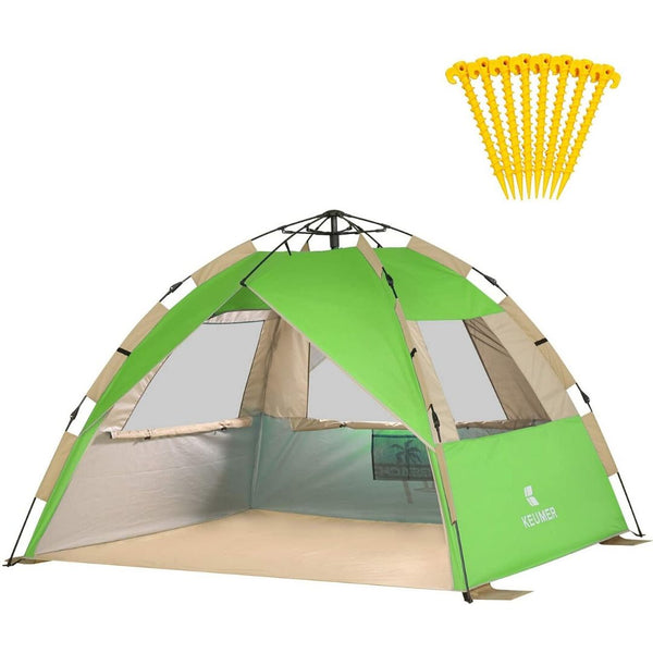 Easy Set Up Beach Tent Sun Shelter Canopy Cabana Pop Up Umbrella - Morealis