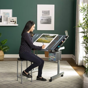 Elite Drawing Desk Adjustable Drafting Desk Drawing Craft Station - Morealis