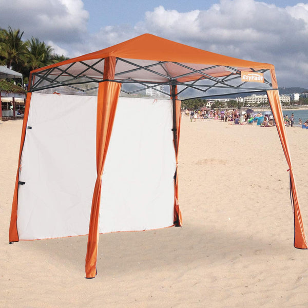 Elite Orange Beach Cabana Tent Pop Up Cool Sun Shade Umbrella For Beach - Morealis
