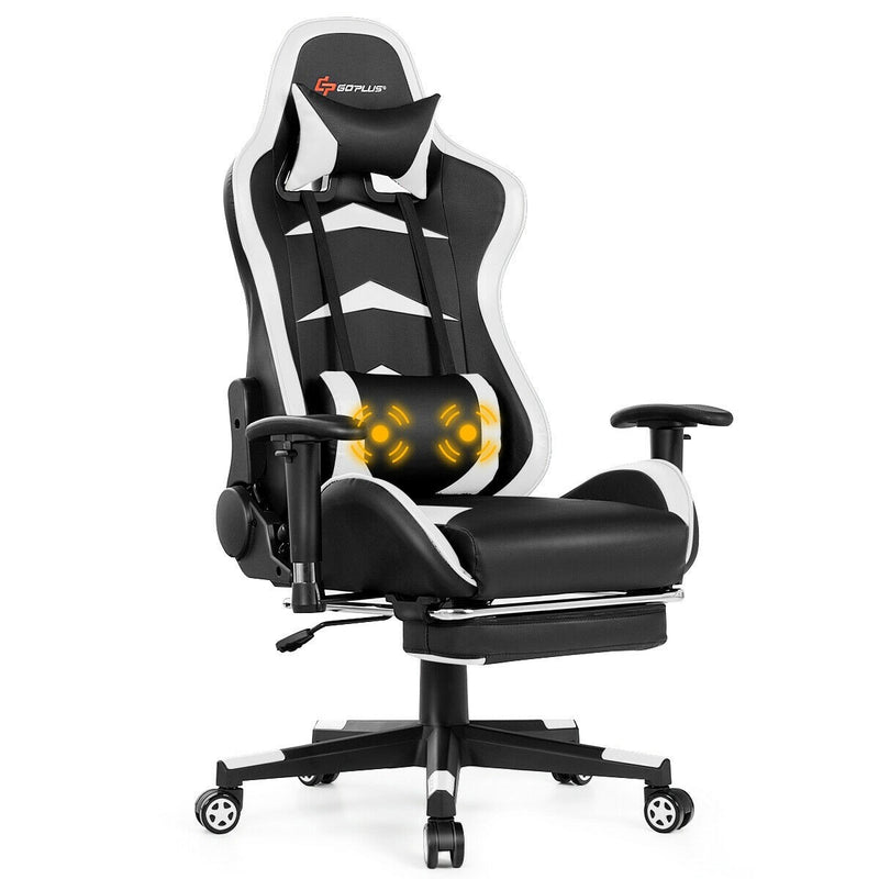 FiveStar Massage Gaming Chair Shiatsu Office Desk Use with Foot Rest - Morealis