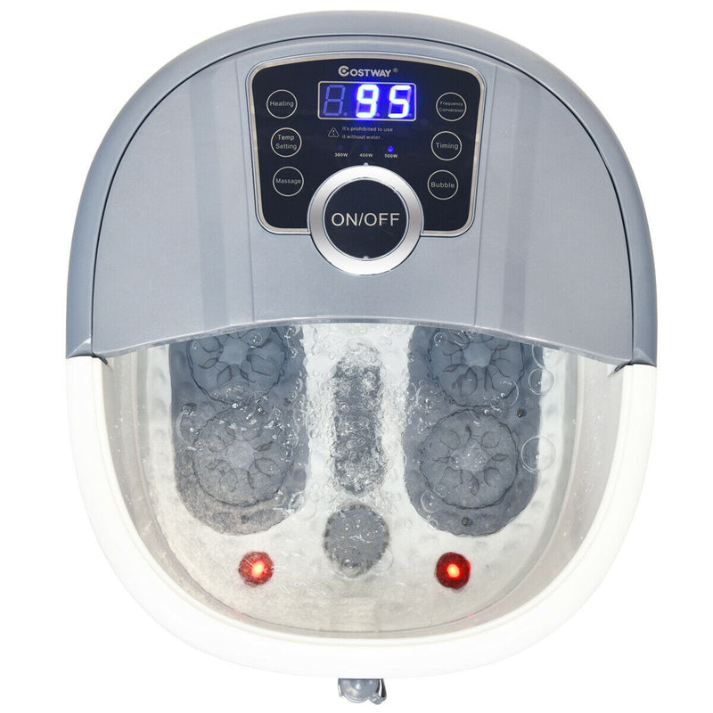 Foot Spa Bath Massager Home Shiatsu Foot Roller Heated Leg Bath Spa Machine - Morealis