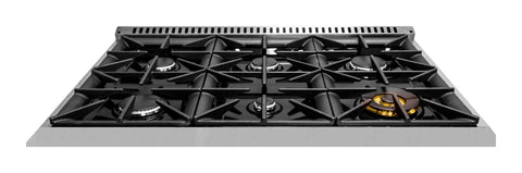 Forte 36 Inch Natural Gas Freestanding Range in Stainless Steel