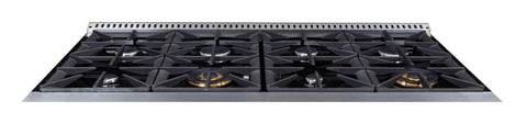 Forte 48 Inch Natural Gas Freestanding Range in Stainless Steel