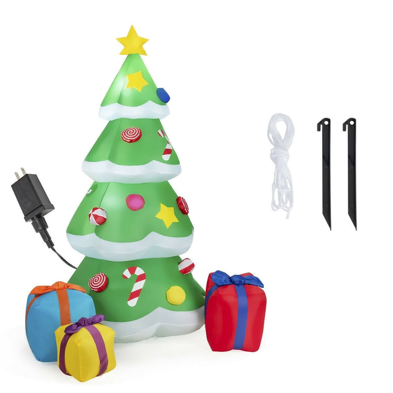 Giant Inflatable Christmas Tree Blowup with 3 Gift Wrapped Boxes - Morealis