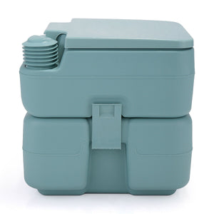 Green Portable Toilet 5 Gallon 20L Outdoor Indoor Travel Camping Potty - Morealis