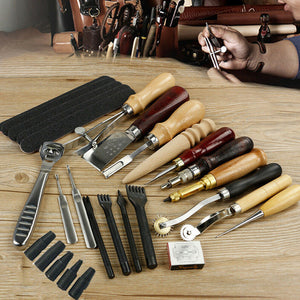Handy Leather Working Tools Kit Craft Carving Punch Kit - Morealis