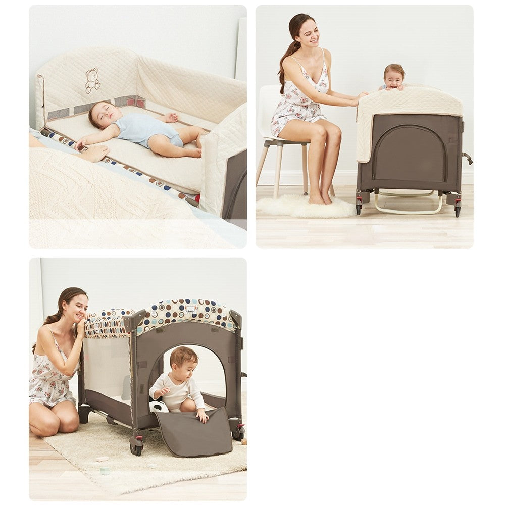 Homary Baby Bassinet Portable Rocking Bedside Sleeper - Morealis