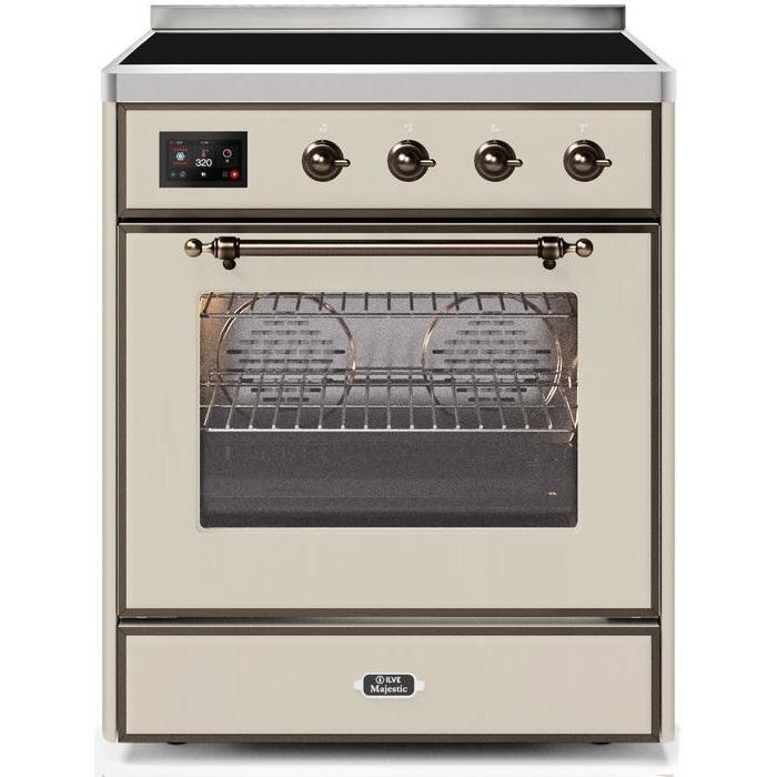 ILVE - Majestic II Series - 30 Inch Electric Freestanding Single Oven Range (UMI30NE3) - Antique White Bronze