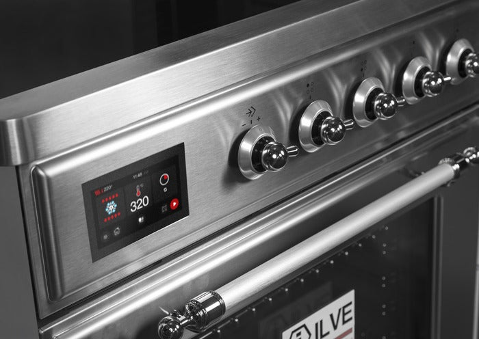 ILVE - Majestic II Series - 30 Inch Electric Freestanding Single Oven Range (UMI30NE3) Close Up View
