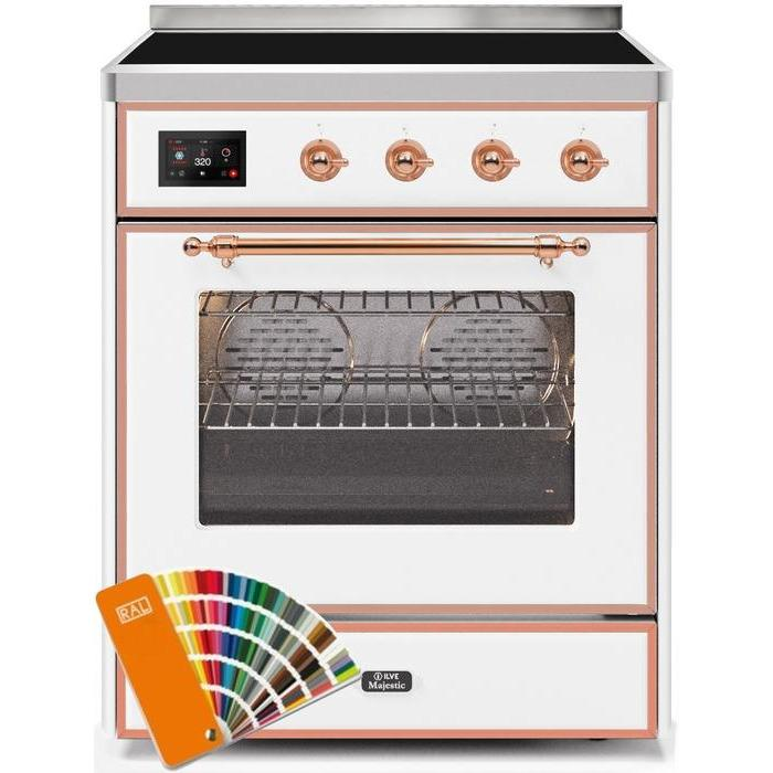 ILVE - Majestic II Series - 30 Inch Electric Freestanding Single Oven Range (UMI30NE3) - Custom RAL Color with Copper Trim