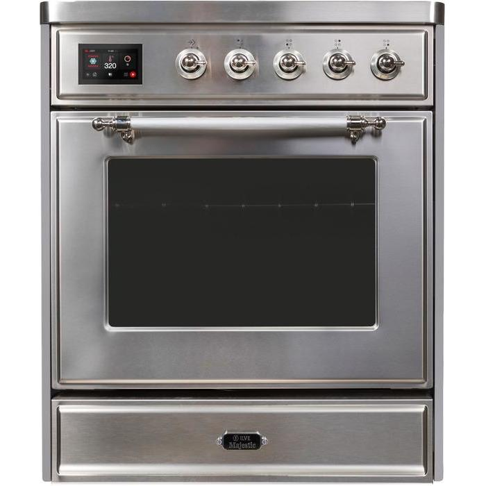 ILVE - Majestic II Series - 30 Inch Electric Freestanding Single Oven Range (UMI30NE3) - Stainless Steel with Chrome Trim
