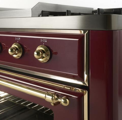 """ILVE 30"""" Majestic II Series Gas Burner and Electric Oven Range Side View"""