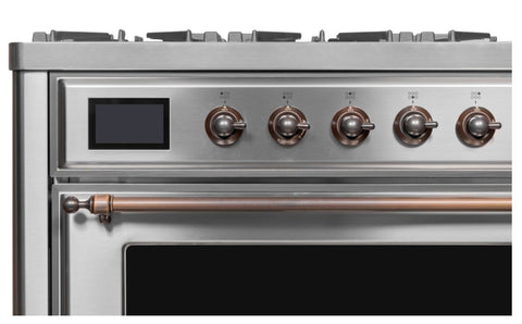 ILVE 36 Inch Majestic II Series Dual Fuel Natural Gas Range