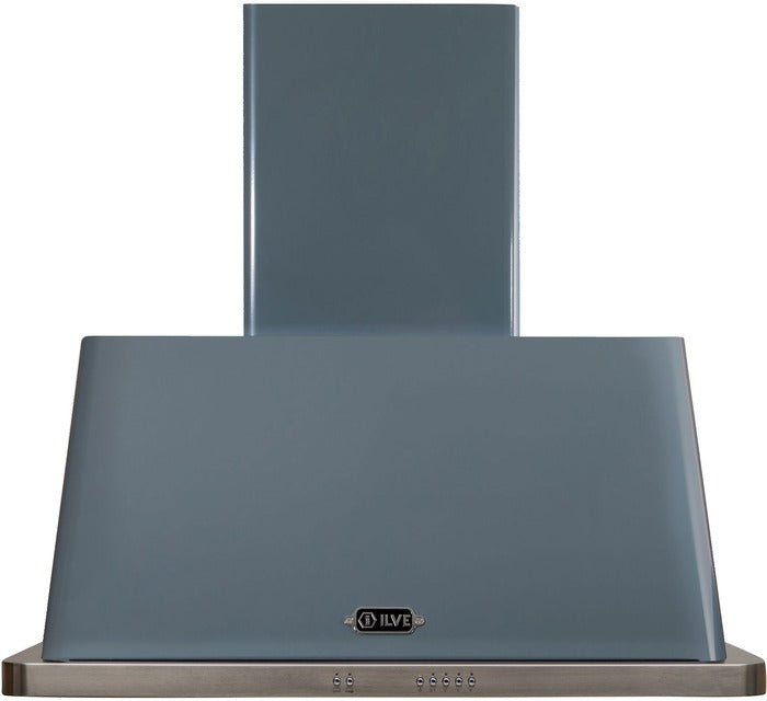 ILVE Majestic 36 Inch Wall Mount Convertible Hood - Blue Grey