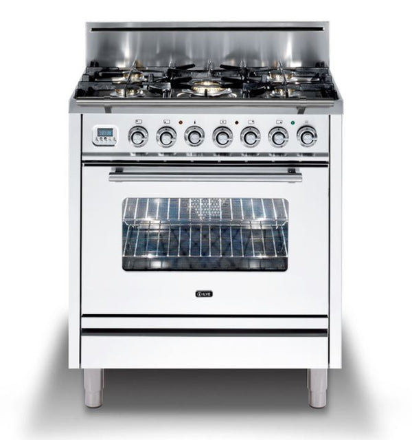 ILVE Professional Plus Series 30 Inch Freestanding Range Gas/Propane (UPW76DVG) - Chrome Trim