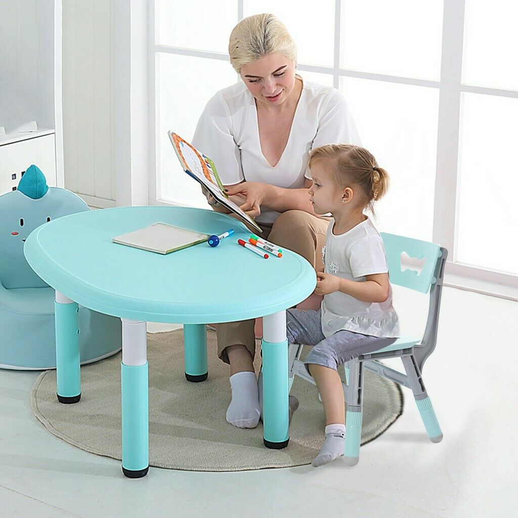 Kids Adjustable Desk Stool Children Art Homework School Chair Set - Morealis