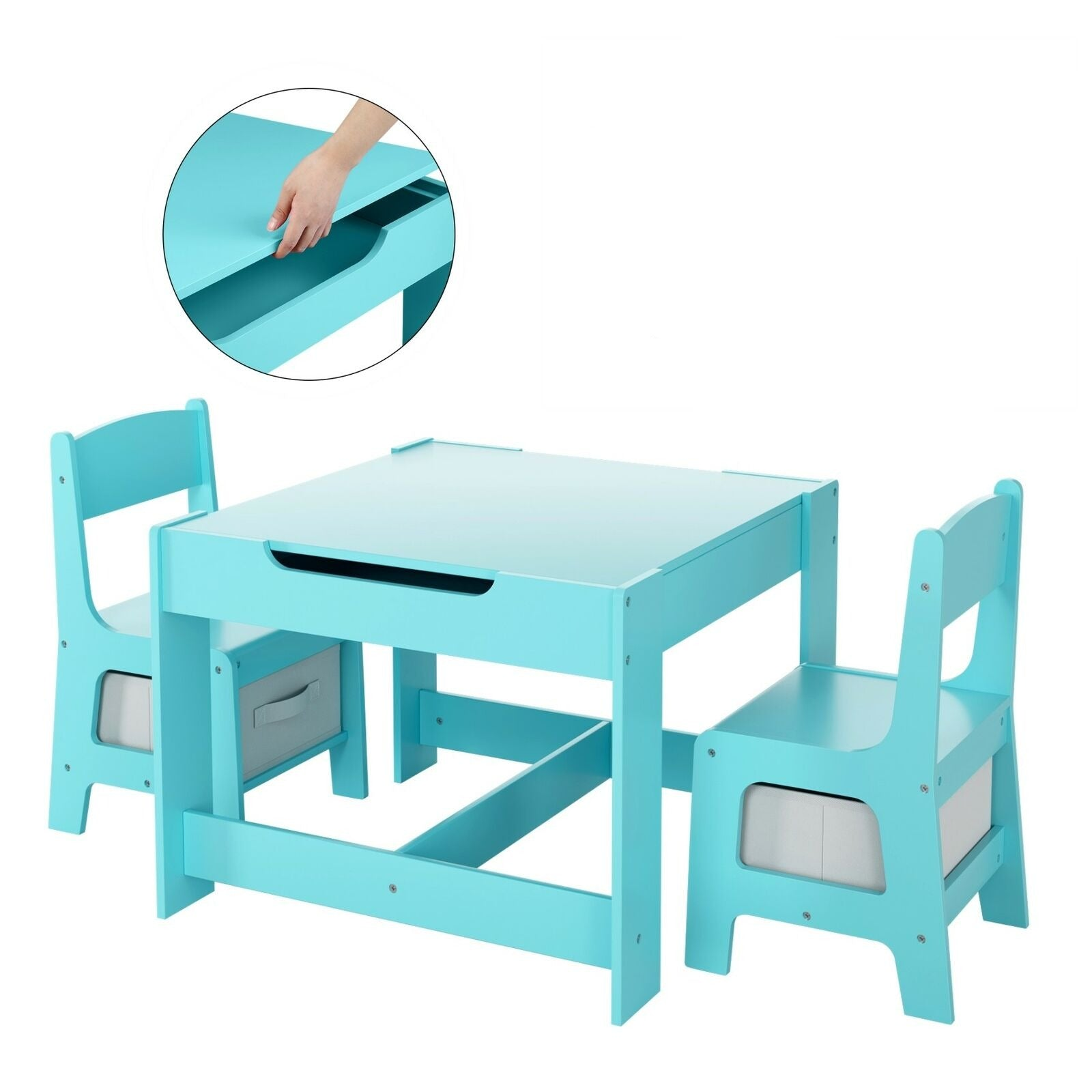 Kids Adjustable Desk Children Art Homework School Desk Chair Set - Morealis