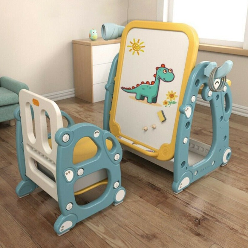 Fun Kids Adjustable Desk Children Art Homework School Desk Chair Set - Morealis