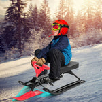 Kids & Baby Snow Sled with Steering Wheel and Brakes - Morealis