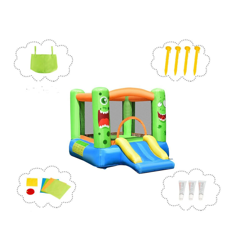 Kids Bounce House Basketball Hoop Jumper Inflatable Bouncer without Blower