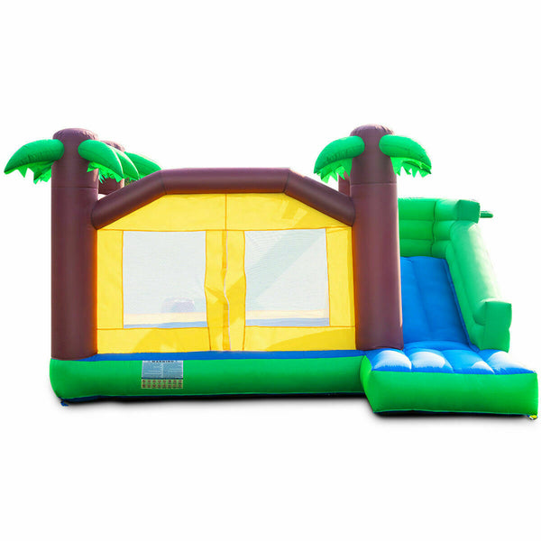 Castle Slide Inflatable Bounce House Kids Safety Play Area with Blower