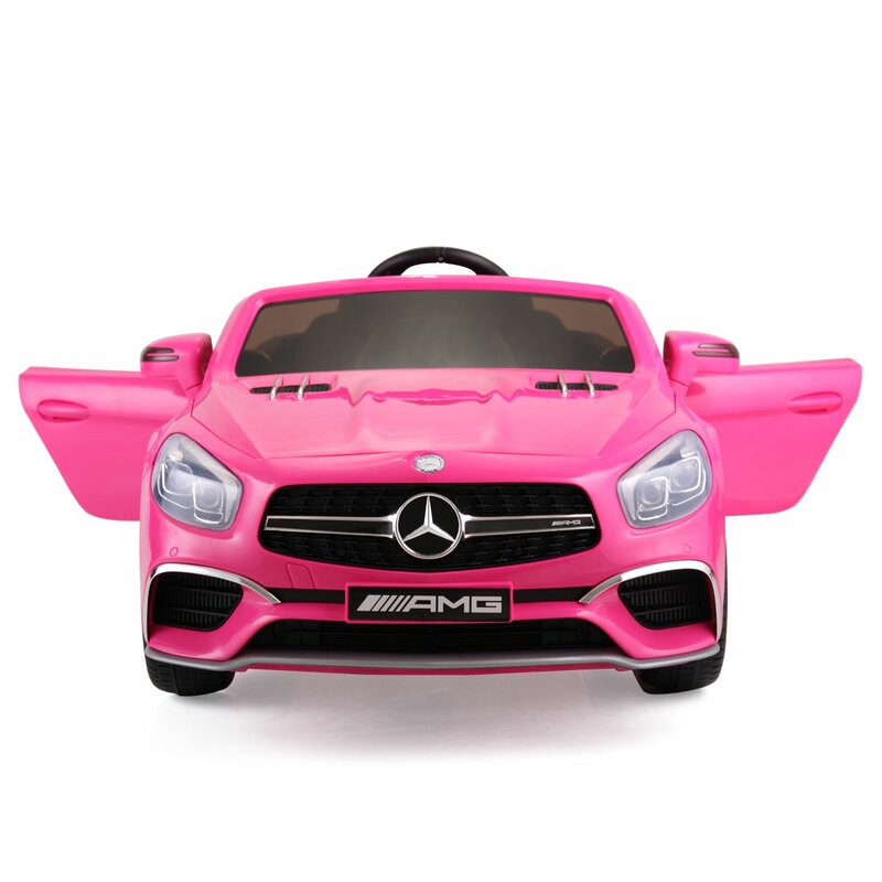 Pink Mercedes Benz Baby Electric Ride on Cars for Kids 12V - Morealis