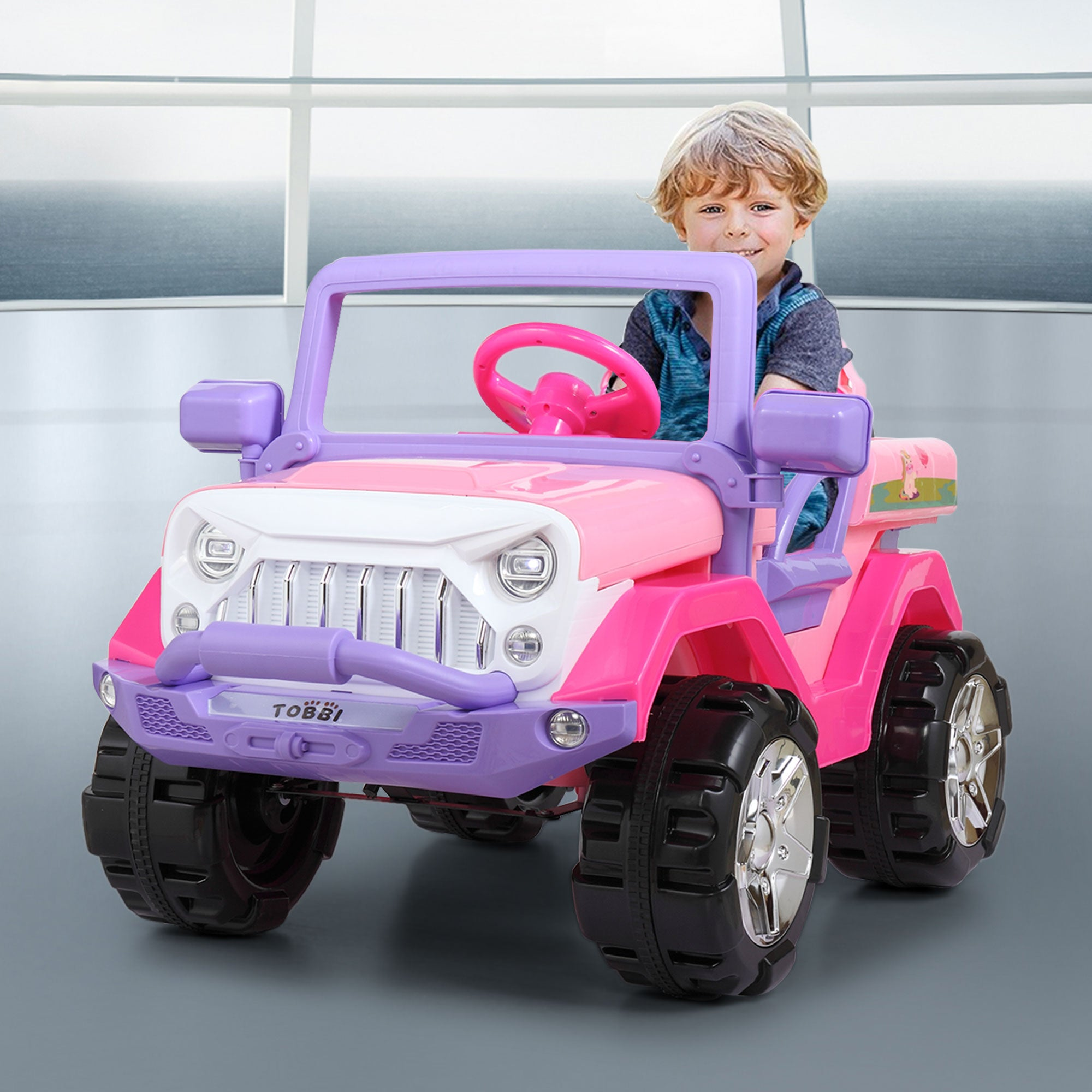 Jumbo Kids Ride On Truck Electric Motorized Children Power Car - Morealis