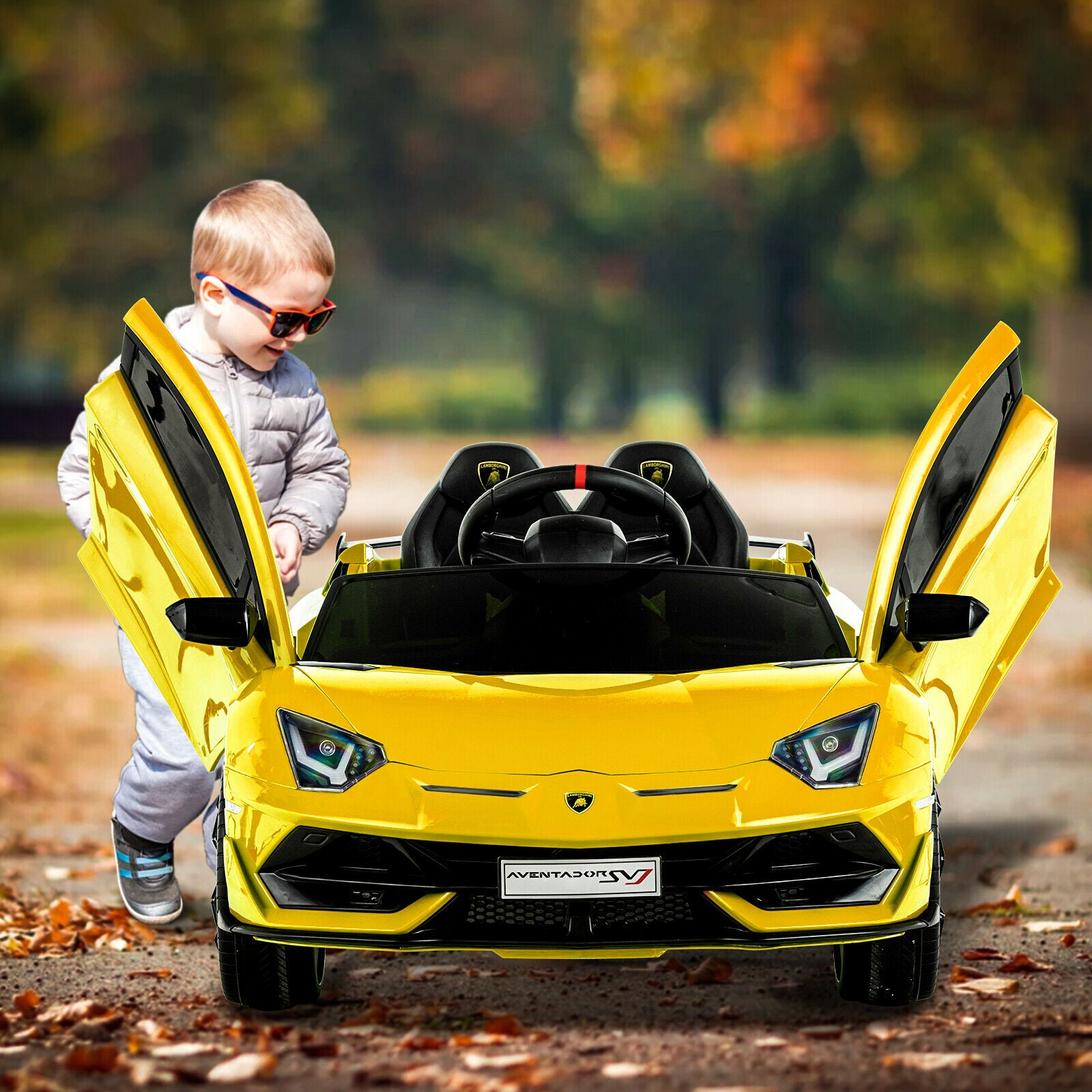 Lamborghini Kids Electric Car Motorized Children Power 12V Electric Ride On Cars
