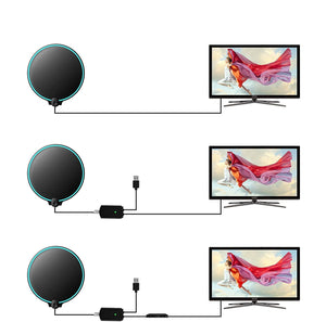 Long Range Stable Indoor Home TV Antenna Booster Amplified Digital Antenna - Morealis